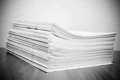 Stack of white journals Stock Photos