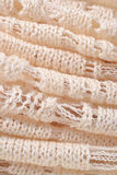 Stack of white knitted fabric Stock Photography