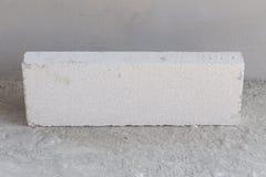 Stack of white Lightweight Concrete block, Foamed concrete block Stock Image