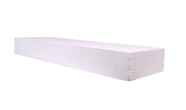 Stack of white Lightweight Concrete block, Foamed concrete block Stock Photos