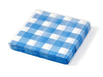 Stack of white napkin Royalty Free Stock Photo