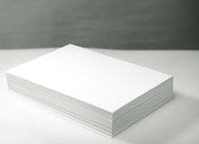 Stack of white paper. Stack of white printer and copier paper Stock Photography