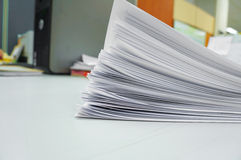 Stack white paper Stock Photography