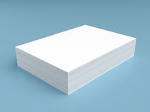 Stack of white paper Stock Image