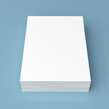 Stack of white paper Royalty Free Stock Photo