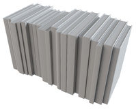 A stack of white paper Stock Image
