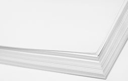 Stack of white paper Stock Photos