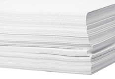 Stack of white paper. For print or text Royalty Free Stock Image
