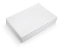 Stack of white paper on white background Royalty Free Stock Photo
