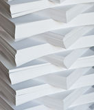 Stack of white papers Royalty Free Stock Image