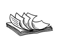 Stack of white papers, hand drawn style, vector Royalty Free Stock Photos