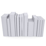 A stack of white papers. Isolated render on a white background Stock Photos