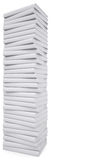 A stack of white papers. Isolated render on a white background Stock Images