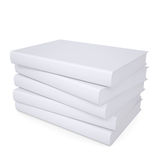 A stack of white papers. Isolated render on a white background Royalty Free Stock Images