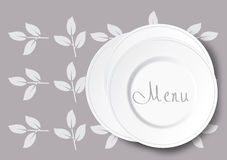 Stack of white plate illustration Royalty Free Stock Photo