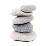 Stack of white stones Stock Images