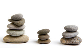 Stack of white stones balancing Stock Photo