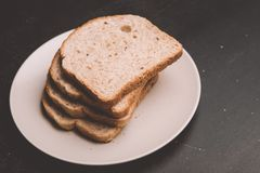 Stack of white bread royalty free stock photos