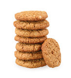 Stack of whole grain cookies Royalty Free Stock Photo