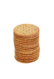 Stack of whole wheat crackers Royalty Free Stock Image