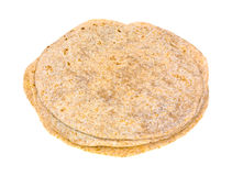 Stack of whole wheat tortillas Stock Photos
