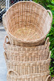 Stack of wicker basket. Royalty Free Stock Images