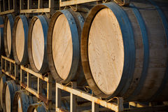 Stack of wine barrels Royalty Free Stock Image