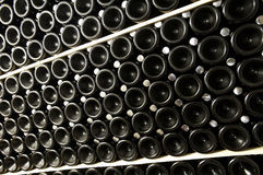 Stack of wine bottles Royalty Free Stock Photos