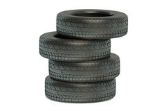 Stack of winter automobile tires  Royalty Free Stock Photos