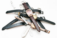 Stack of women wristwatches Stock Photography