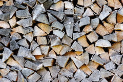 Stack of wood. Close-up in a countryside Stock Photos