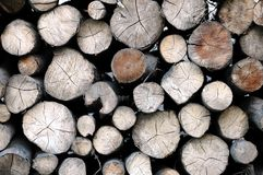 Stack of wood. Stack of sawed wood background Royalty Free Stock Photos