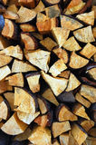 Stack wood Stock Image