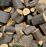 A stack of wood Royalty Free Stock Photography