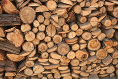 Stack of Wood. Stack of neatly chopped firewood in Cotacachi, Equador Royalty Free Stock Photos