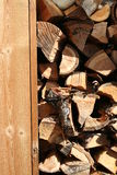 Stack of wood. Ready for the fireplace Royalty Free Stock Images
