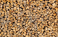 Stack of wood Stock Image