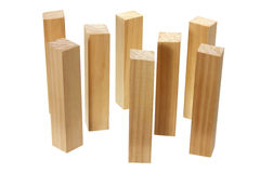 Stack of Wood Blocks Royalty Free Stock Images