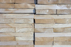 Stack of wood boards. Stock Images