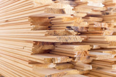 Stack of wood boards  for construction or Royalty Free Stock Image