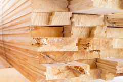 Stack of wood boards  for construction or Royalty Free Stock Photography