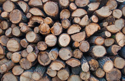 Stack of wood. Royalty Free Stock Images