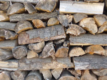 A stack of wood Stock Images