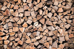 Stack of wood logs Royalty Free Stock Photography