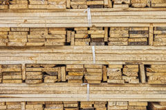 A stack of wood lumbers Royalty Free Stock Photography