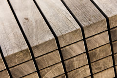 Stack of wood. Modern design furniture Royalty Free Stock Photography