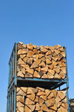 Stack of wood. Royalty Free Stock Photo