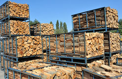 Stack of wood. Stock Photo
