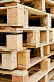 Stack of wood pallet closeup Royalty Free Stock Photos
