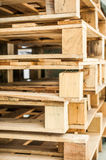 Stack of wood pallet closeup Royalty Free Stock Image